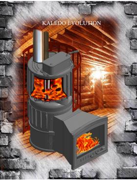 Печи KALEDO с комбинированной  закрытой каменкой