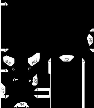 Чугунная  банная печь KALEDO ANTIC KA205