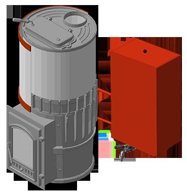 Банная печь KALEDO ANTIC KA185-80 с баком