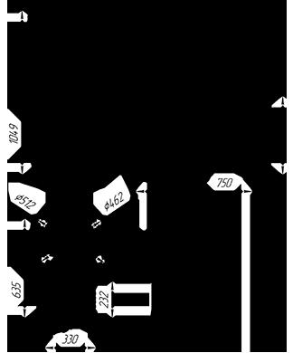 Чугунная  банная печь KALEDO RETRO KR2217