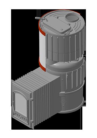 Банная печь KALEDO RETRO ML KR2717