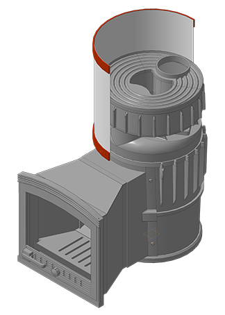 Чугунная  банная печь KALEDO VISIO  KV2230