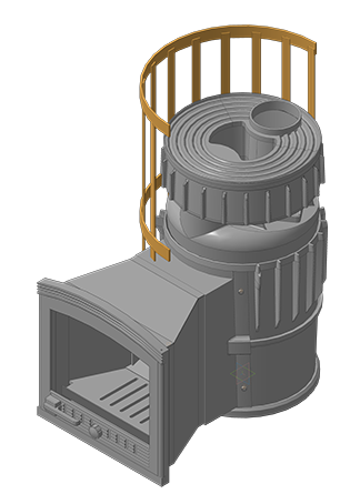 Чугунная  банная печь KALEDO VISIO  KV2230/2