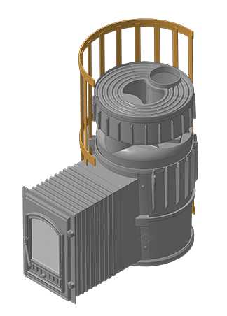 Чугунная банная печь KALEDO MODERN  L KM2520/2